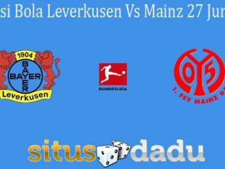 Prediksi Bola Leverkusen Vs Mainz 27 Juni 2020