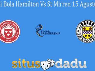 Prediksi Bola Hamilton Vs St Mirren 15 Agustus 2020
