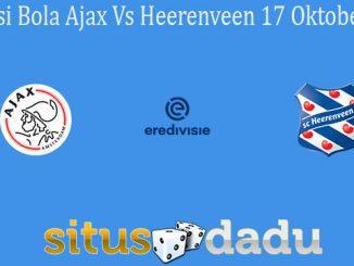 Prediksi Bola Ajax Vs Heerenveen 17 Oktober 2020
